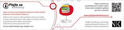 záložka Ptejte se knihovny - přední strana
